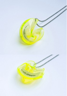 "Heartware Necklace ""Fortune Cookie"" light-yellow"
