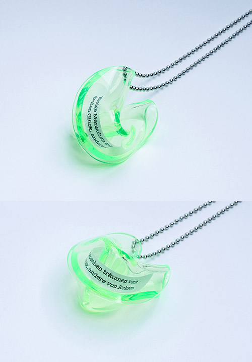 "Heartware Necklace ""Fortune Cookie"" light-green"