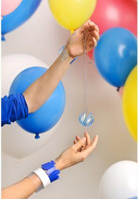 "Heartware Necklace ""Fortune Cookie"" light-blue"