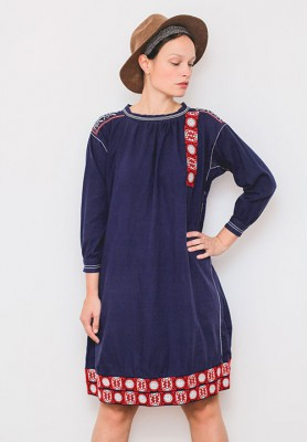 HIPSISTERS Embroidered hippie dress