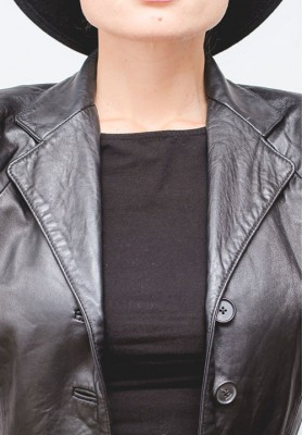HIPSISTERS Long leather waistcoat