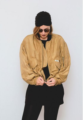 HIPSISTERS Silk bomber jacket